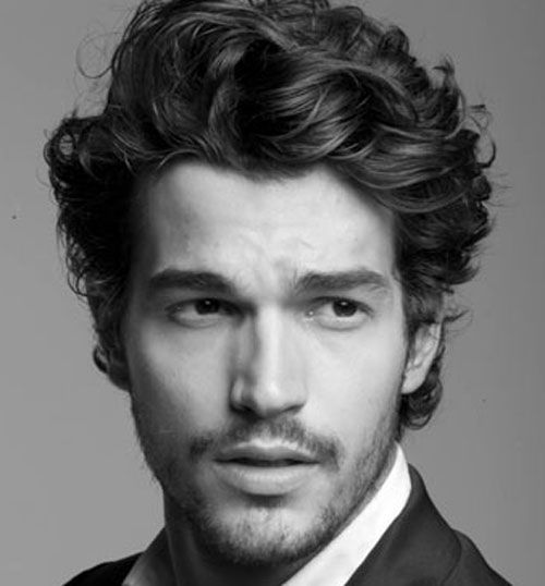 Curly Hairstyles For Men | Side curly hair, Curly hairstyles and ...