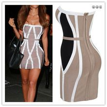 Best selling off shoulder women sexy bandage dress in cocktail dresses with a zipper back