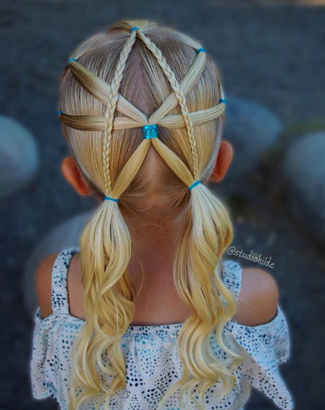 This mom taught herself how to braid her daughters' hair