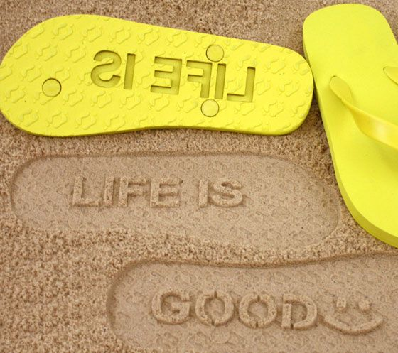 Changing the manufacturing process which allows your personalized sand message sandals-jandals-flip-flops-thongs with no minimum order quantity