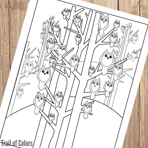 detective owl coloring page 1 little owls coloring page 2 night owl coloring page - Owls Coloring Pages 2