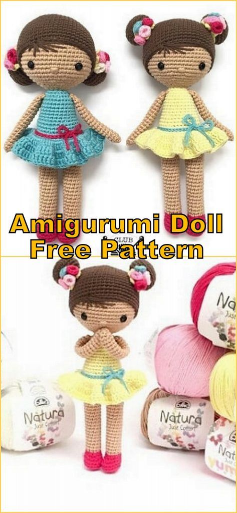 Amigurumi Little Doll Free Pattern | 1024x473