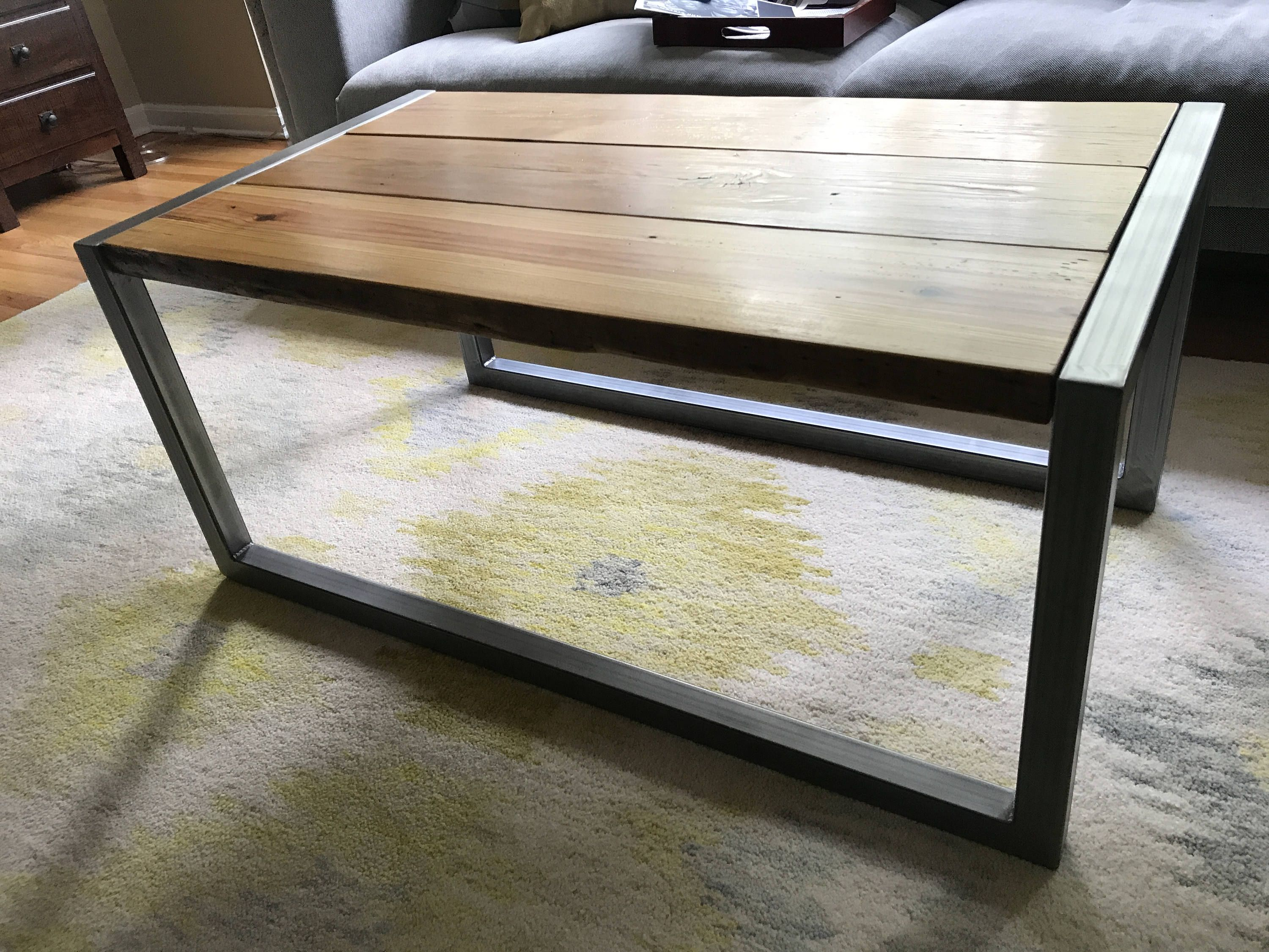 Modern And Rustic Reclaimed Wood Coffee Table Etsy Coffee Table Wood Rustic Reclaimed Wood Modern Wood Coffee Table [ 2250 x 3000 Pixel ]