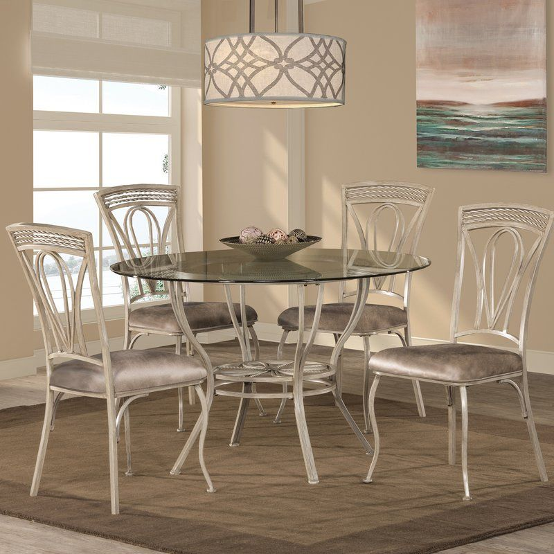 Anton 5 Piece Dining Set In 2019 Home Round Dining Table Sets