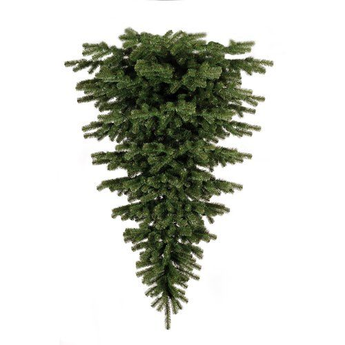 Upside Down White Christmas Tree: Upside Down 4ft Green Artificial Christmas Tree The