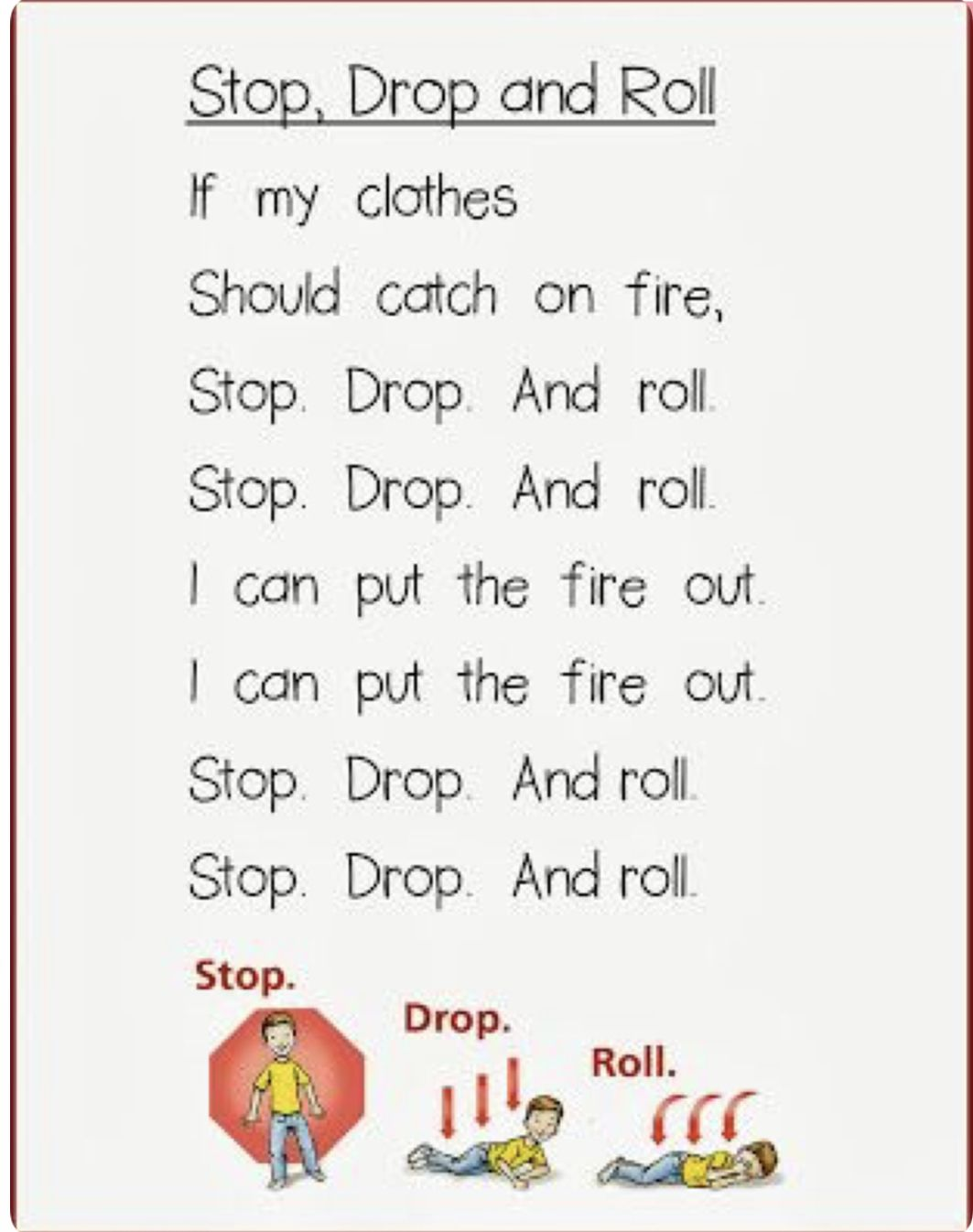 Stop Drop And Roll