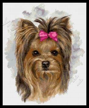 Yorkshire Terrier Cross Stitch Kits Cross Stitch Animals Counted Cross Stitch Cross Stitching
