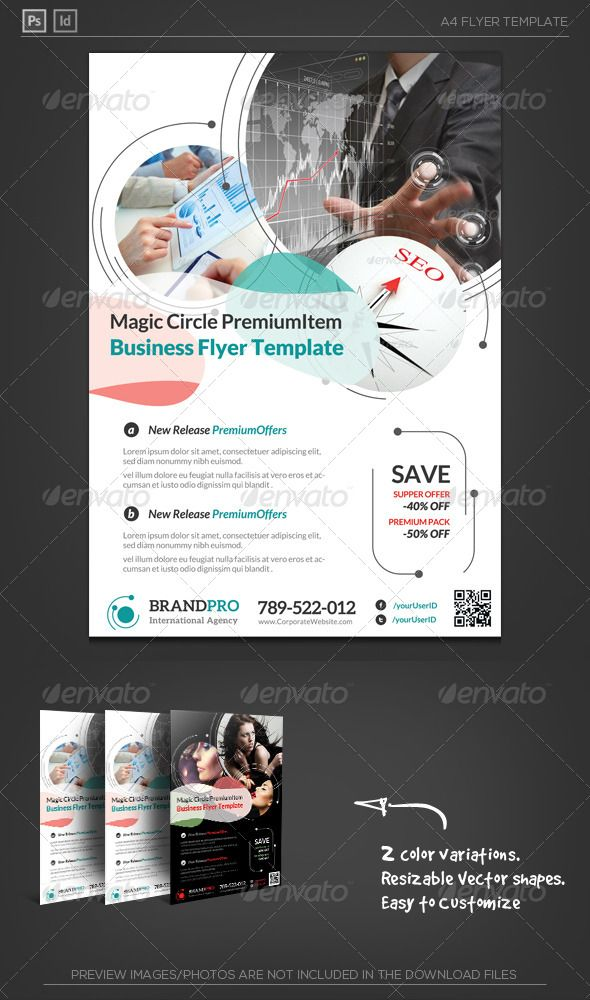 Magic Circle Multipurpose Corporate Flyer Template Magic circle - coffee shop brochure template