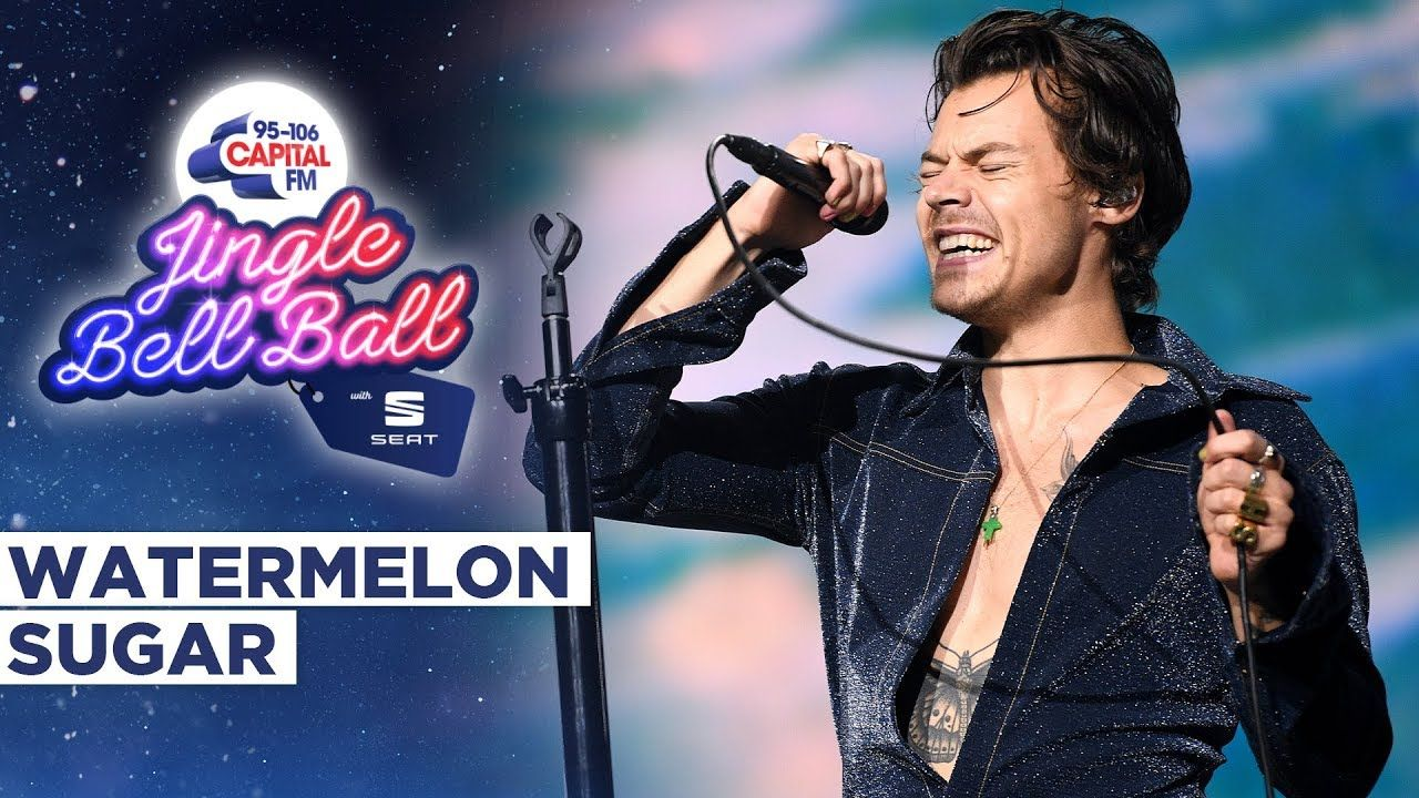 Harry Styles Watermelon Sugar Live At Capital S Jingle Bell Ball 2019 Harry Styles Songs Best Song Ever