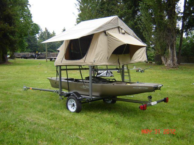 Kayak Trailer With Tent Google Search Kayak Trailer Kayaking Kayak Accessories