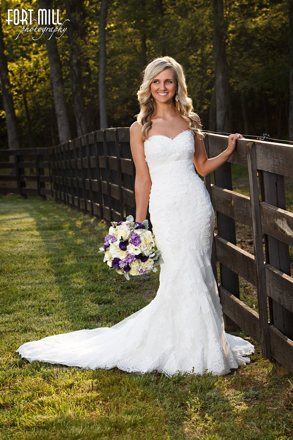 Bridal Portrait at Morning Glory Farms © Fort Mill