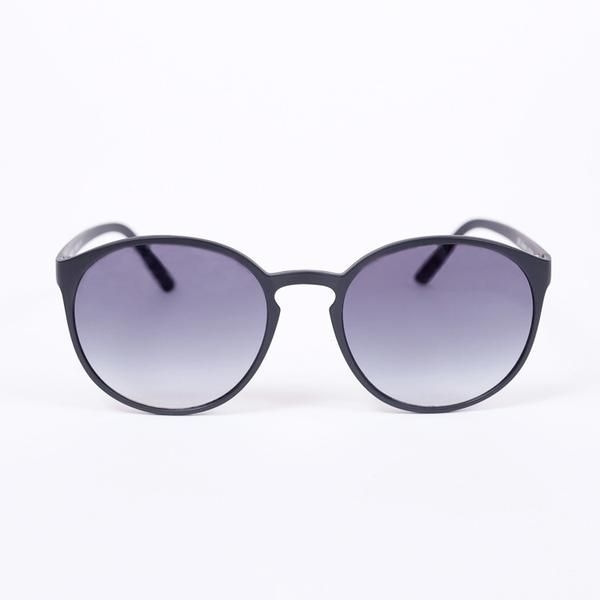 7989ba2b9d Le Specs Swizzle Matte Black Sunglasses - front facing on white background
