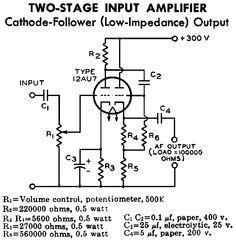 [ZSVE_7041]  12AU7 / ECC82 Cathode Follower Tube Preamplifier Schematic | Audio  amplifier, Valve amplifier, Vacuum tube | 12au7 Preamp Schematic |  | Pinterest