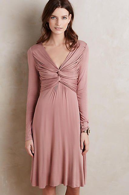 9f4bca0c11ad Gathered Jersey Dress | My style- DYT Type 2 | Vestidos de fiesta ...