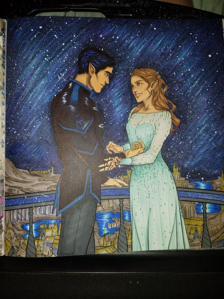 Acotar Coloring Book With Images Coloring Book Art Coloring