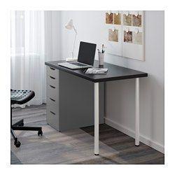 LINNMON / ALEX Pöytä, mustanruskea, harmaa - 120x60 cm - mustanruskea/harmaa - IKEA