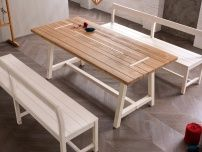 Rectangular table made of wood New rustic Fratino style, Callesella