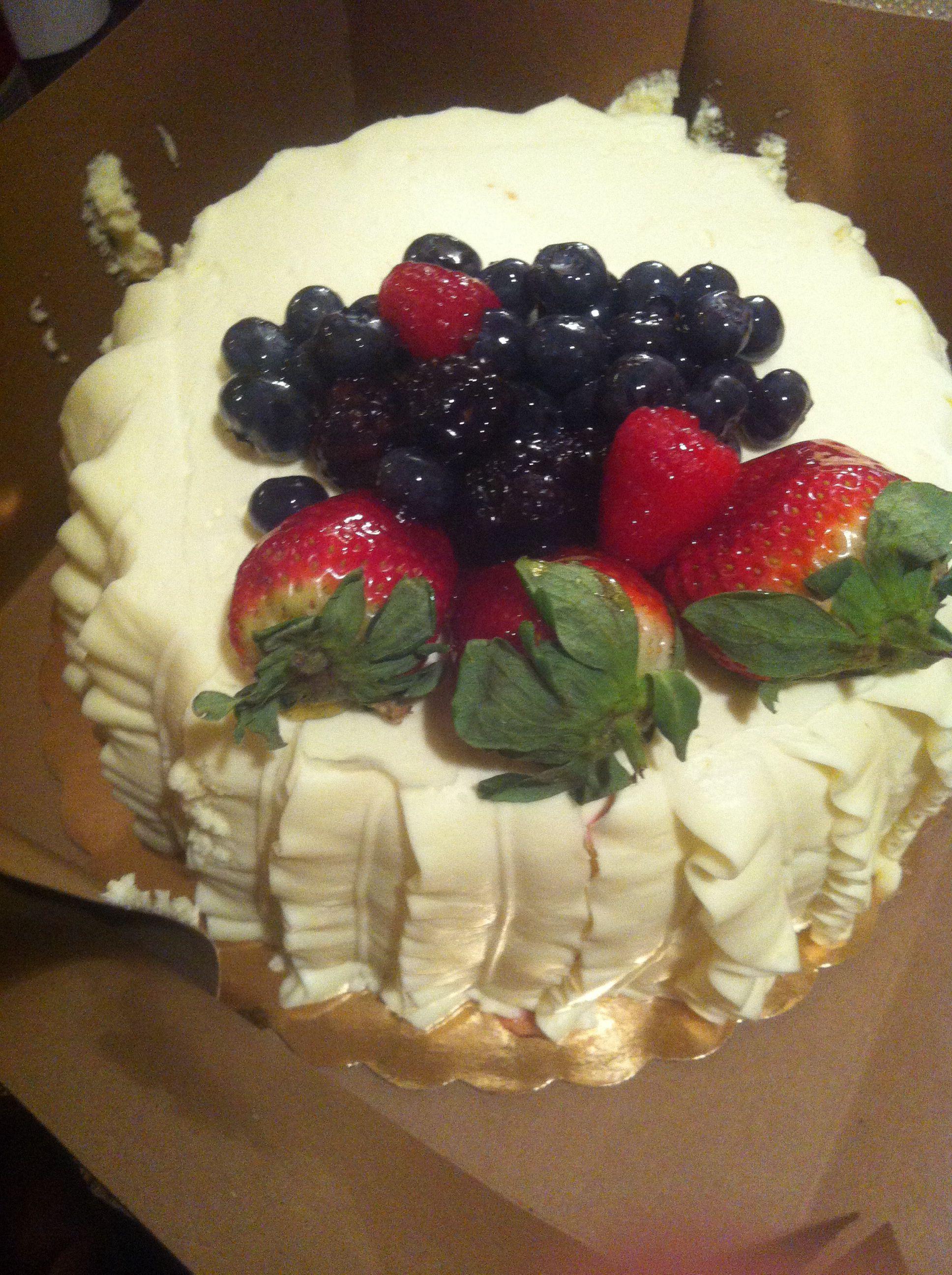 Whole Foods Fruit Basket Cake