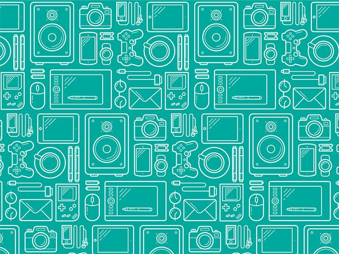 20 Free Seamless Icon Patterns For Designers Free Vector