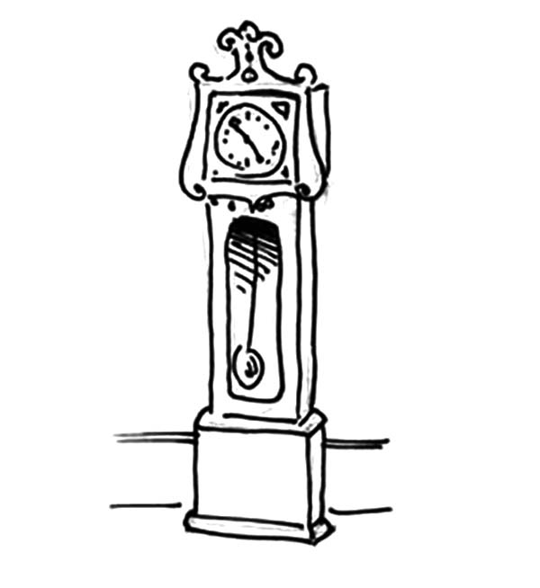Grandfather Clock Coloring Pages For Kids Color Luna Coloring Pages Grandfather Clock Coloring Pages For Kids