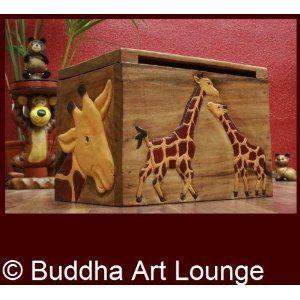 Giraffen,Truhe,Kiste,Spielzeug,Holz,Massiv,Kinderzimmer