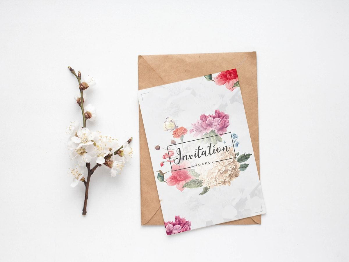 Free Minimalistic Invitation Mockup Psd 2018 Invitation Mockup Wedding Greetings Business Cards Mockup Psd