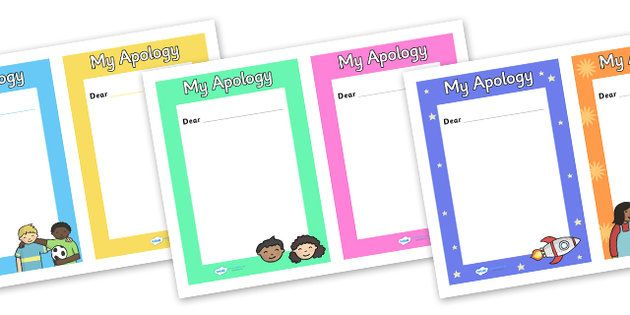 My Apology Letter Writing Frames - Twinkl Learning resources - apology letter
