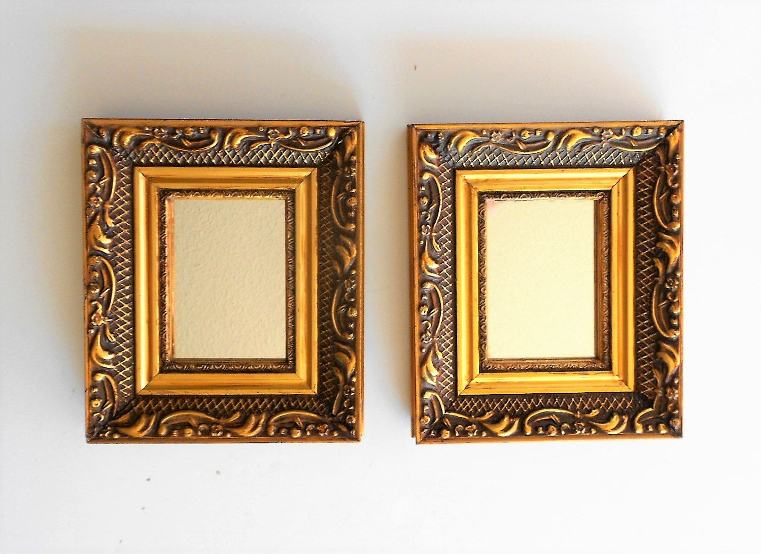 6 5 H Wall Mirrors Decorative Wall Mirrors Small Wall Etsy Gold Framed Mirror Gold Mirror Wall Small Wall Mirrors