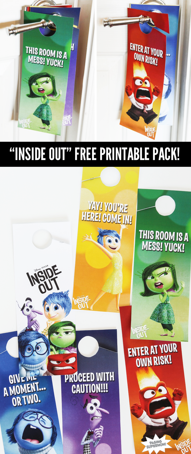 Inside out free printable pack via pagingsupermom play therapy