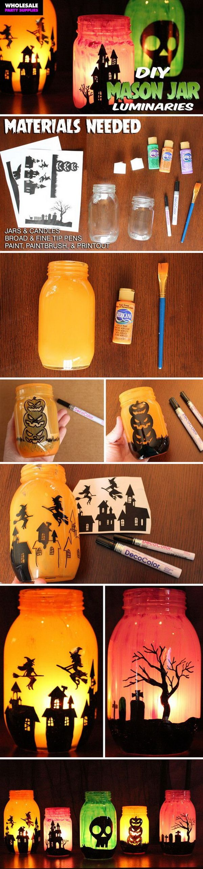 30+ Homemade Halloween Decoration Ideas Free printable, Jar and - cute homemade halloween decorations