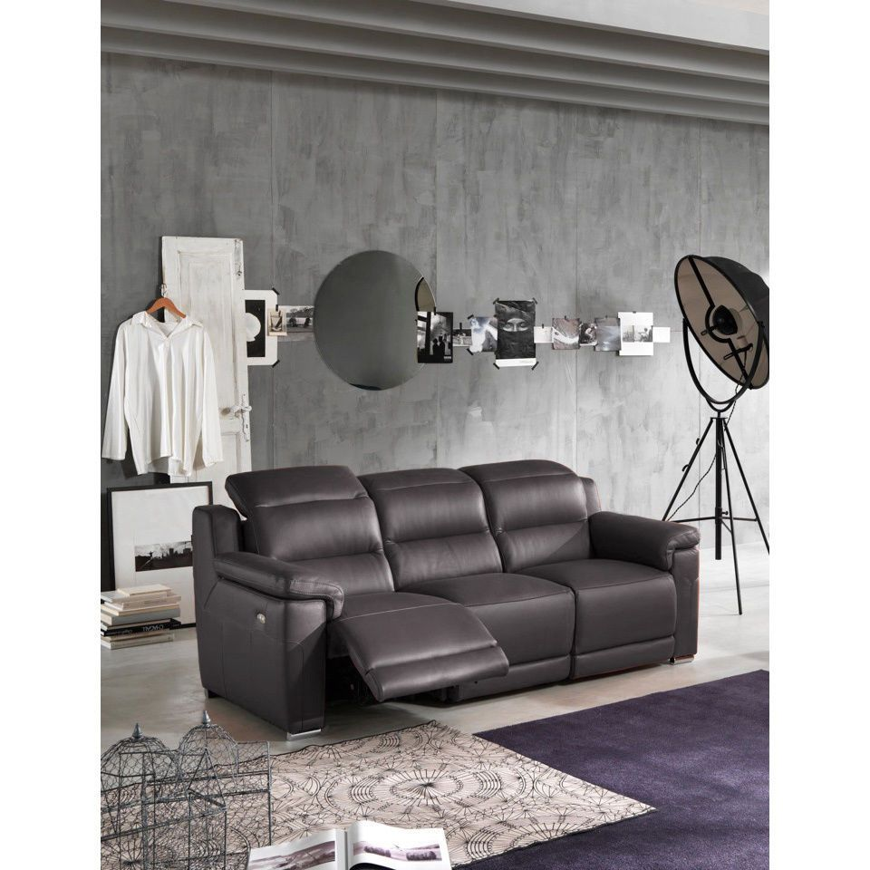 Alessandro Leather Power Motion Sofa Reviews Cushion Replacement Bangalore 2900 Joanne Dark Grey Italian Reclining Unbranded
