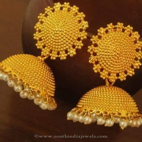 137b6faee Big Imitation Jhumkas | Gold Diamond Gold!! | Diamond jhumkas ...