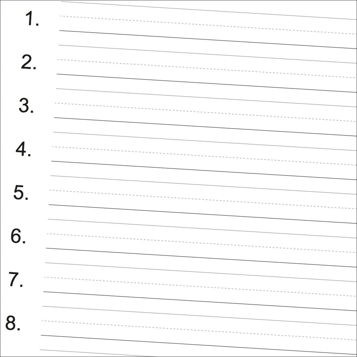 Numbered printable handwriting paper... Great for spelling