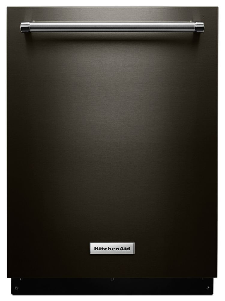 Black stainless top control 39 dba 24 tall tub built