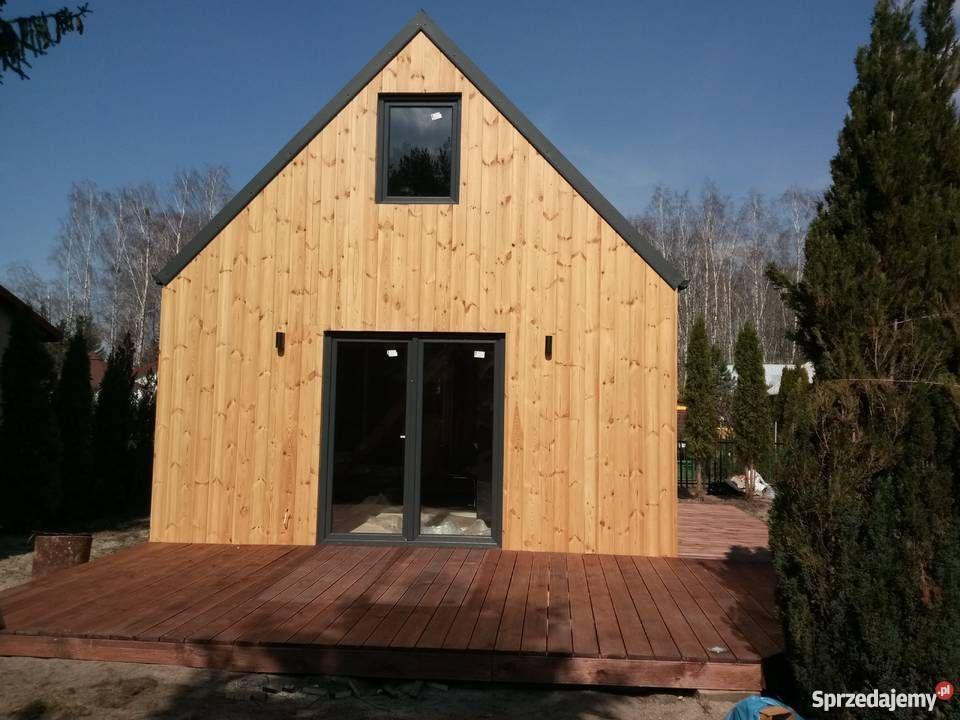 Wooden house Stodółka 35m with attic skeleton house Otwo …