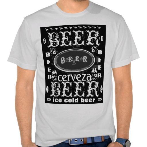 Beer Badge Black & White Grey #beer #beer t shirts http://www.zazzle.com/beerbrew?rf=238806092629186307