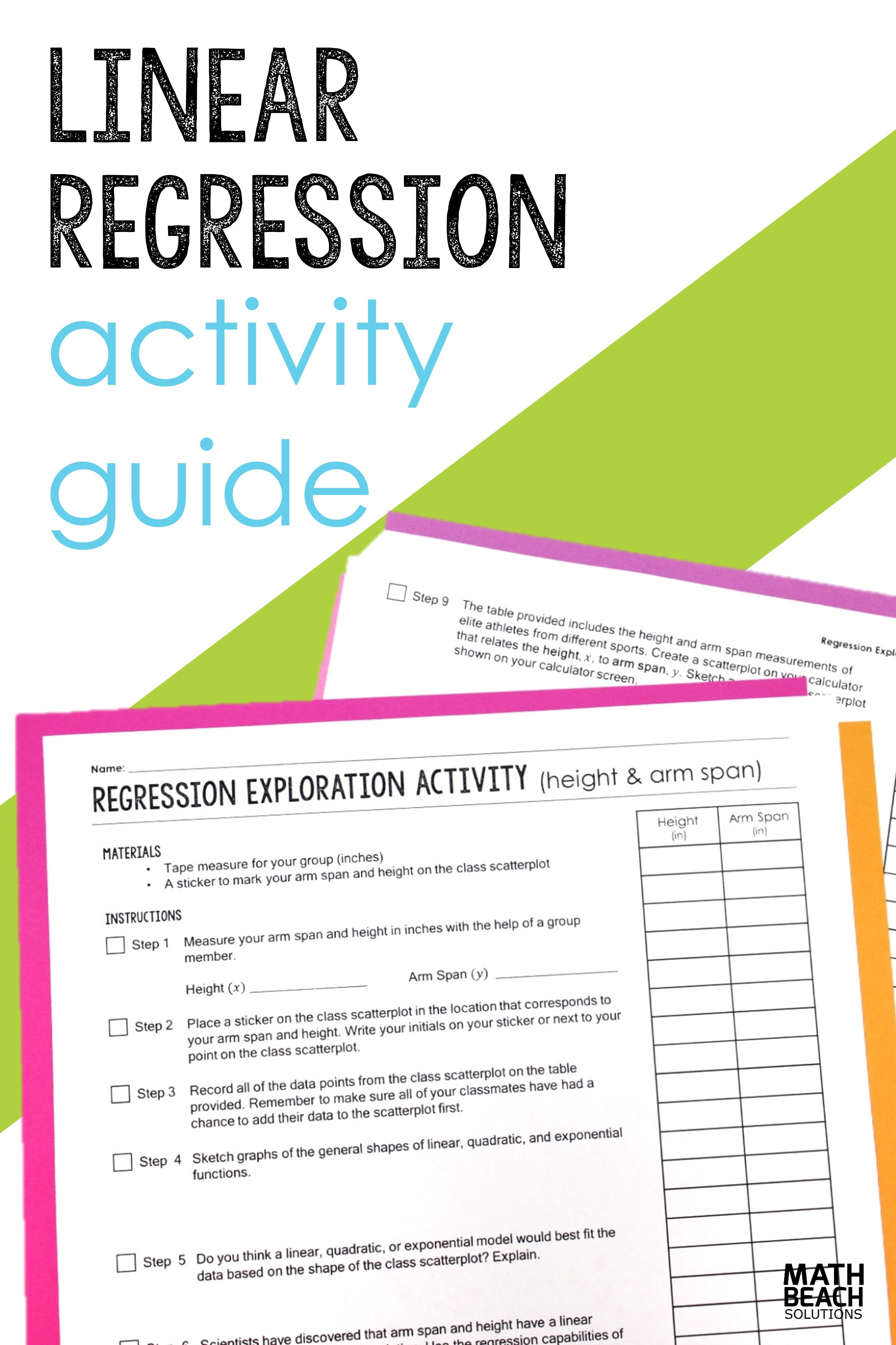 Linear Regression Exploration Class Activity Guide