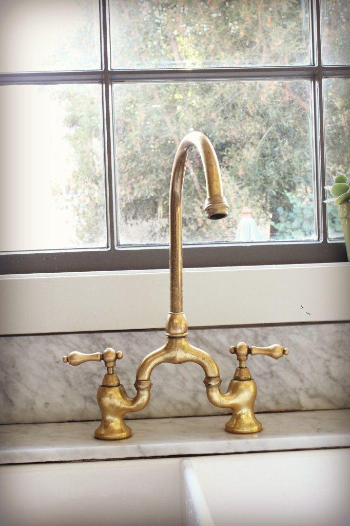unlacquered brass faucet update edt 682x1024 Kitchen