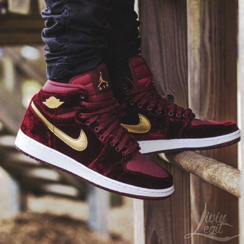 Nike Air Jordan 1 Heiress 'Velvet' - 2016 (by. – Nike Air Jordan 1 Heiress  'Velvet' - 2016 (by livin_legit)