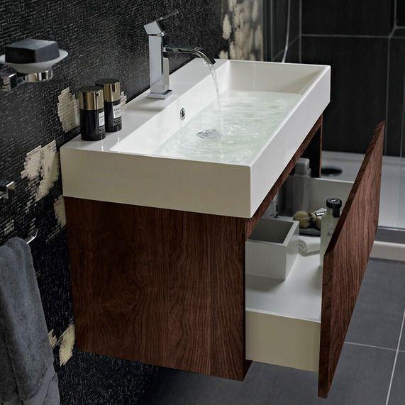 Bathroom Vanity Unit And Sink. Mino 600 and drawer unit basin  walnut bathstore 149 sale price