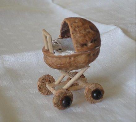 orechov krupiny ako ozdoby kids basteln puppenstube und miniatur. Black Bedroom Furniture Sets. Home Design Ideas