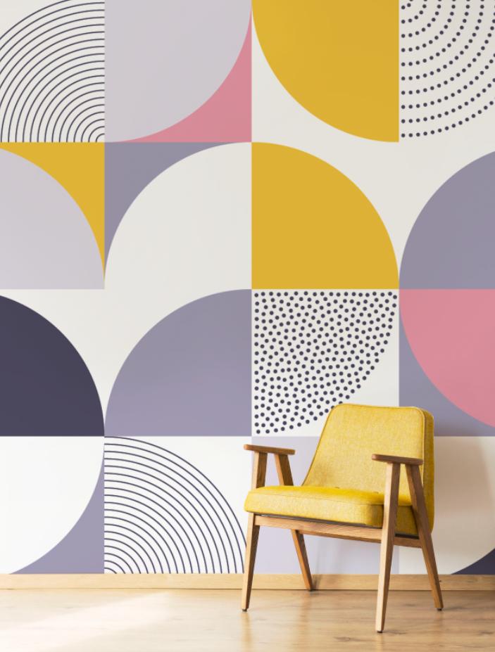 Swiss Abstract Geometric Wallpaper