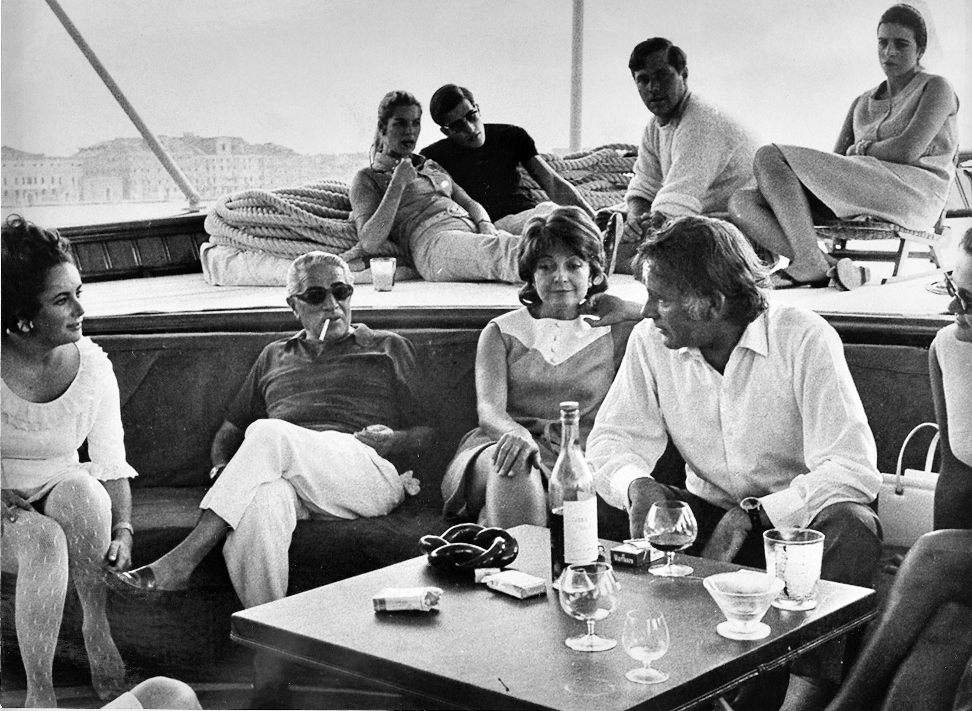Christina O Yacht Historical Photo By Stef Bravin Aristotle Onassis Elizabeth Taylor Jackie Onassis
