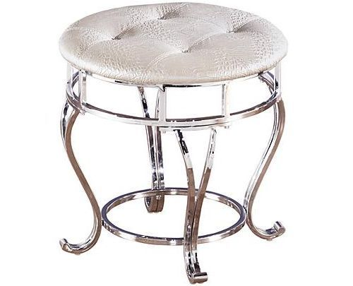 Astonishing Details About Silver Chrome Vanity Stool Mirrored Makeup Bralicious Painted Fabric Chair Ideas Braliciousco