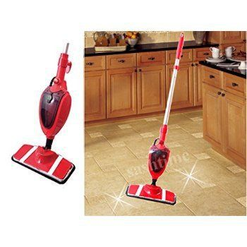 RED QUEST MULTI SURFACE STEAM MOP CLEANER BATHROOM TILES KITCHEN FLOOR 1300W Part 76