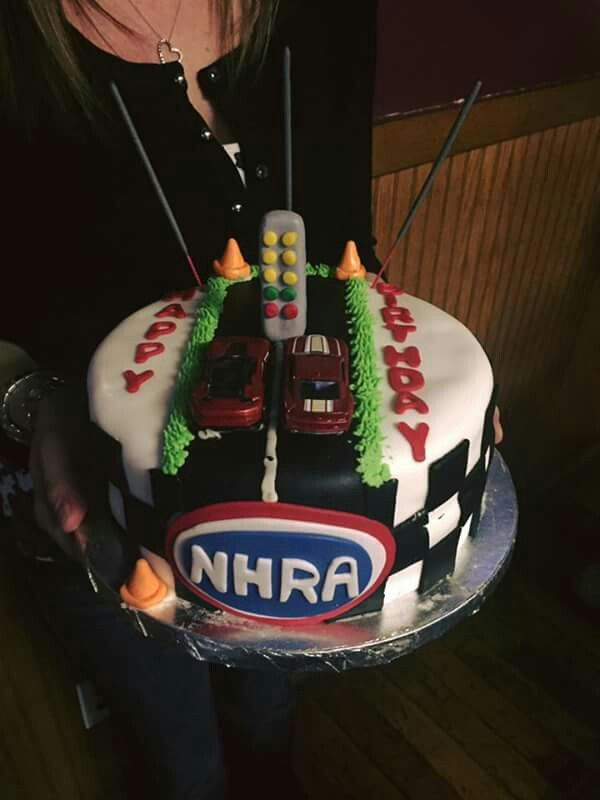 Celebrate A Drag Racing Birthday With This Nhra Themed Dragstrip Cake