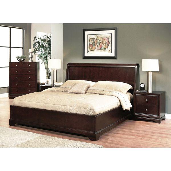 ABBYSON LIVING Beverley 4-piece Espresso Bedroom Set Home