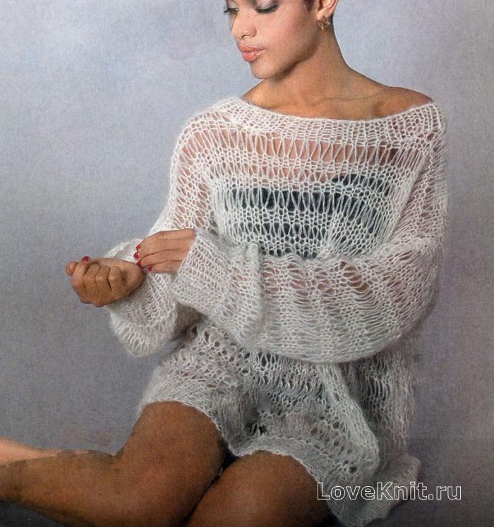 Схема свитера со спущенными рукавами фото 668