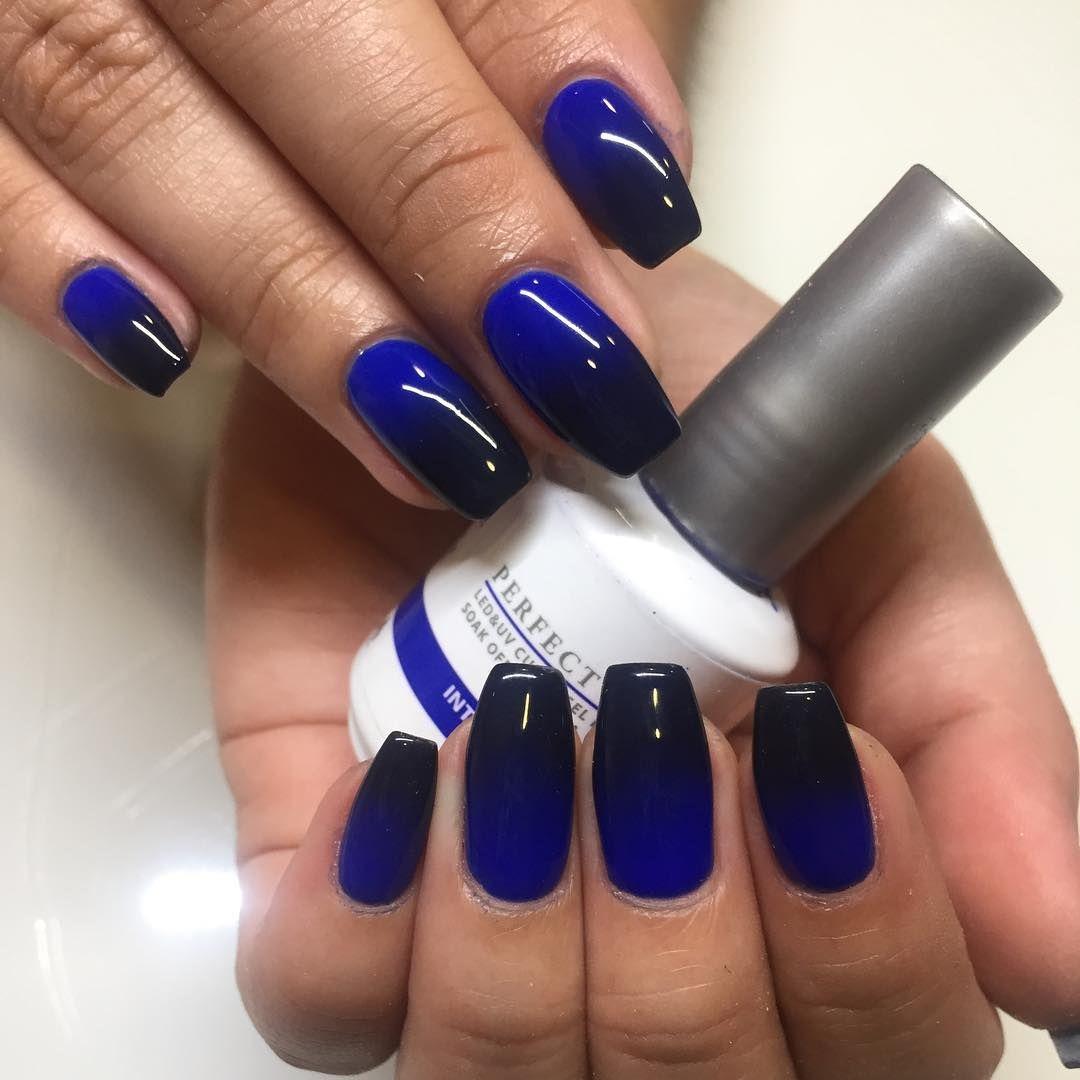 susielexie_g ombre nails, dark blue nails, blue nails, dark nails ...