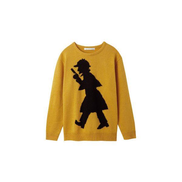 ゆるキャラがモード界に君臨! あえてハズすテクニックでおしゃれ心を楽しんで。 アールエイチアールビー ❤ liked on Polyvore featuring tops, sweaters, jumpers, outerwear, brown sweater and brown tops